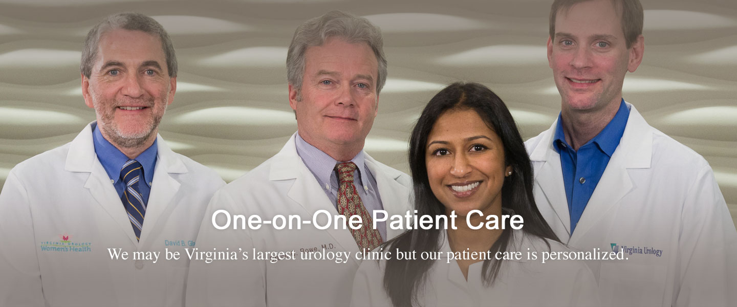 Four doctors one-on-one patient care image